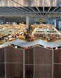 Matdomstol på MBK-gallerian, Bangkok Arkivbilder