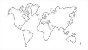 Mate alfa del luma de la animación del icono del mapa del mundo metrajes