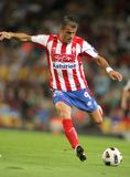 Mate Bilic of Sporting Gijon. Mate Bilic of Gijon in action during spanish league match between FC Barcelona and Sporting Gijon at Nou Camp Stadium in Barcelona Royalty Free Stock Photography