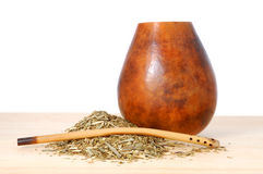 Mate in calabash Stock Photography