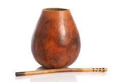 Mate in calabash Stock Photo