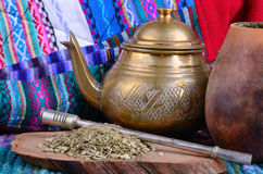 Mate in calabash Stock Image