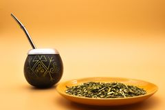 Mate, common drink in Argentina royalty free stock photography