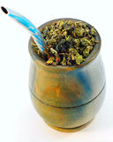 Mate Cup. This is a mate cup and straw. It is popular in Argentina. It is used to drink a tea called Mate Royalty Free Stock Photo