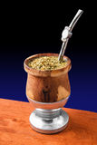 Mate Cup. A cup of traditional Argentinian Mate royalty free stock image
