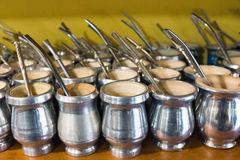 Mate cups in Argentina Royalty Free Stock Photography