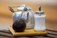 Mate Drink Setup - compagnon de Yerba Images stock