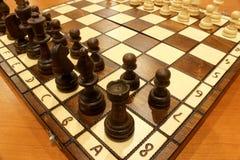 mate för schackdefeatlek Royaltyfri Foto