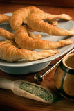 Mate and grease croissants Stock Photo