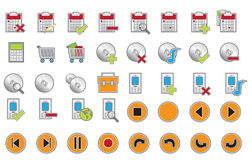 Mate icons web Royalty Free Stock Photos
