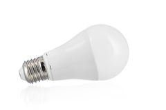 Mate light bulb on white background Royalty Free Stock Images