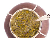 Mate Macro 1. A macro view of an Argentinian mate Royalty Free Stock Images