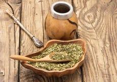 Mate tea accessories Stock Image