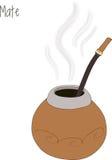 Mate tea, calabash, vector illustration Stock Photo