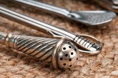 Mate utensils stock photo