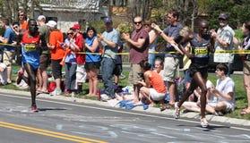 Matebo und Kisorio (beides Kenia) Boston Marathon lizenzfreie stockfotografie