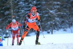 Matej Kazar - biathlon Fotografie Stock Libere da Diritti