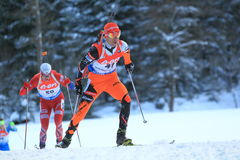 Matej Kazar - biathlon Royalty Free Stock Photos