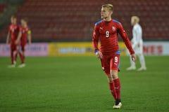 Matej Vydra. PRAGUE 27/03/2015 _ Friendly match Czech Republic U21 - England U21 Royalty Free Stock Images