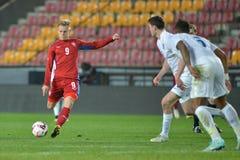 Matej Vydra. PRAGUE 27/03/2015 _ Friendly match Czech Republic U21 - England U21 Royalty Free Stock Photos