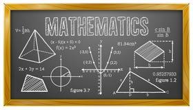 Matemática, álgebra, geometria, trigonometria, quadro-negro Fotos de Stock Royalty Free