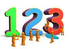 Matemática 123 Imagens de Stock