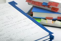 Matemática avançada e livro Imagens de Stock Royalty Free