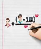 Matemática da equação do amor Imagem de Stock