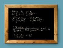 Matemática difícil da fórmula do quadro-negro preto da placa Fotos de Stock Royalty Free