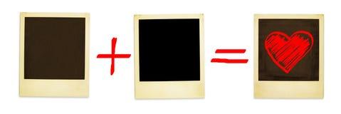 Matemática do amor (trajeto de +clipping, XXL) Foto de Stock Royalty Free