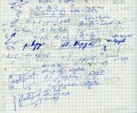 Matemática no papel f do sqare Imagem de Stock