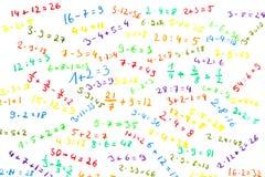 Matemática simples fotografia de stock