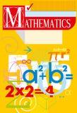 matemática Tampa do vetor Fotos de Stock Royalty Free