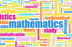 Matemáticas Fotos de archivo libres de regalías