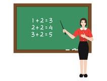Matemáticas de ensino do professor Fotografia de Stock Royalty Free