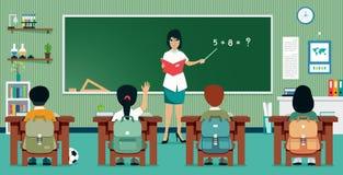 Matemáticas de la sala de clase stock de ilustración