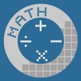 Matemáticas del botón stock de ilustración