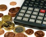 Matemáticas del dinero Imágenes de archivo libres de regalías