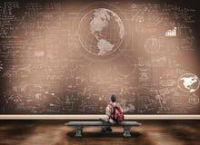 Matemáticas del estudiante Foto de archivo libre de regalías