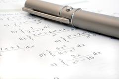 Matemáticas del estudio fotografía de archivo