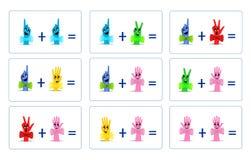 Matemáticas divertidas, vector de los cdr Imágenes de archivo libres de regalías