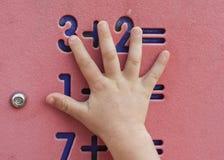Matemáticas das crianças Fotografia de Stock