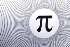 Matemáticas pi Foto de archivo libre de regalías