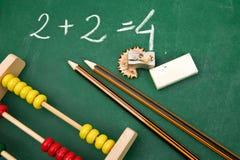 Matemáticas simples fotografía de archivo