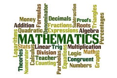 matematica Fotografie Stock