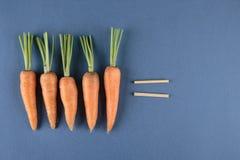 Matematica dei bambini e delle carote Fotografia Stock Libera da Diritti