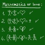 Matematica di amore Immagini Stock Libere da Diritti