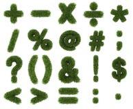 Matematica di simboli dell'erba Immagini Stock Libere da Diritti