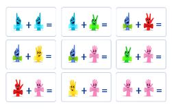 Matematica divertente, vettore dei cdr Immagini Stock Libere da Diritti