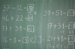 Matematics в начальной школе Стоковые Изображения